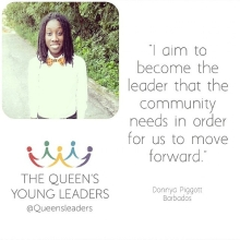 Introducing @donnyapiggott one of our #QueensYoungLeaders and co-founder of LGBT human rights organisation B-Glad