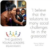 Introducing @Patrice.Madurai one of our #QueensYoungLeaders and founder of @Cupcaresolution