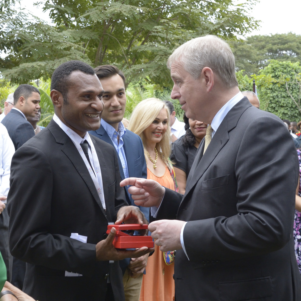 His Royal Highness meets John Taka Copyright: Gov of PNG