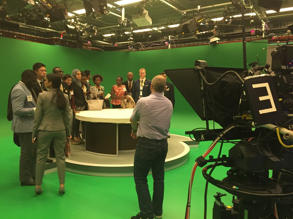 Trying out the green screen room at BBC Worldwide
