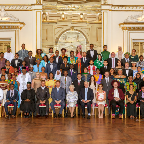 The Queen's Young Leaders receive their Awards from Her Majesty